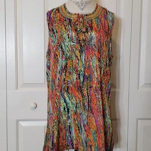 Susan Graver Beaded Tassel Tunic Size XL